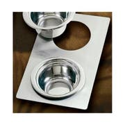 Bon Chef Stainless Steel Full Size Tile with Two Cutout for Number 5250 Pan, 13 1/8 x 21 1/2 inch -- 1 each.
