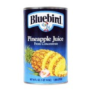 BlueBird Pineapple Juice, 46 ounce --  12 per Case