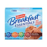 Carnation Breakfast Essentials Light Start Rich Milk Chocolate No Sugar Added Powder 8 Case .69 Ounce
