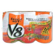 Juice V8 Spicy High Cone, 5.5 Ounce -- 48 Case