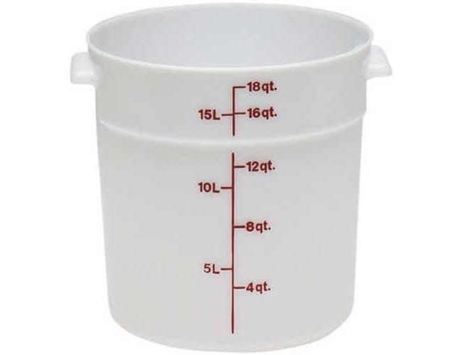 White Plastic Storage Container, 18 Quart -- 1 Per Case