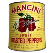 Mancini Roasted Red Peppers - no.10 can, 6 cans per case