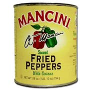 Mancini Fried Peppers w/ Sweet Onions - 28 oz. can, 12 cans per case