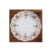 Smith Lee White French Lace Doily, 5 inch - 1000 per pack -- 10 packs per case.