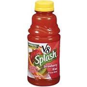 V8 Splash Strawberry Kiwi Juice, 16 Fluid Ounce -- 12 per case.