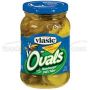 Vlasic Ovals Hamburger Dill Chip, 16 Ounce -- 12 per Case