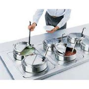 Cover Hinged Kool Touch, Stainless Steel, 9 5/8 Inch -- 1 Each.