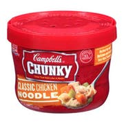 CHUNKY Classic Chicken Noodle Soup - 15.25 oz. microwavable bowl, 8 per case