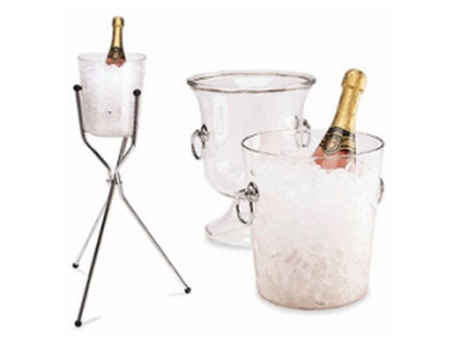 Clear Wint Bucket With Handles, 8×9.13 -- 1 Per Case