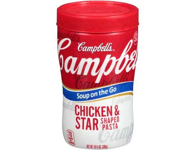Campbell Soup at Hand Chicken and Stars Soup - 10.75 oz. microwavable cup, 8 per case