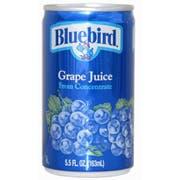 BlueBird Grape Juice, 5.5 Ounce -- 48 per Case