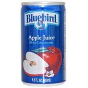 BlueBird Apple Juice, 5.5 Ounce -- 48 per Case