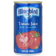BlueBird Tomato Juice, 5.5 Ounce -- 48 per Case