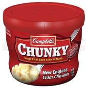 CHUNKY New England Clam Chowder - 15 oz. microwavable bowl, 8 per case