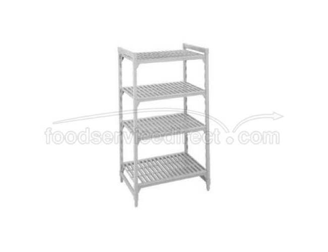 Speckled Gray Cambro Camshelving Stationary Starter Unit with 4 Vented Shelf, 24 x 54 x 64 inch -- 1 each.