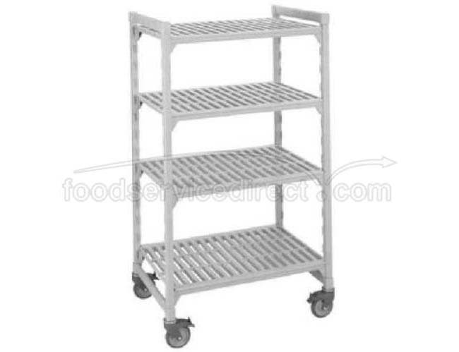Speckled Gray Cambro Camshelving Mobile Starter Unit with 5 Vented Shelf -- 1 each.
