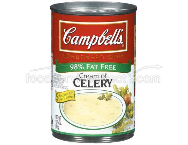Campbells Condensed Reduced Fat Cream of Celery Soup - 10.75 oz. can, 12 per case