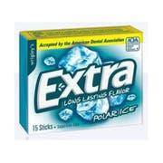 Wrigley Single Serve Polar Ice Extra Gum - 15 Piece, 10 per pack -- 12 packs per case.