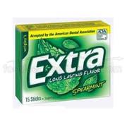 Extra Spearmint Gum - 3 per pack -- 20 packs per case.