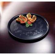 Yoshi Ware Emi Deli Mate Black Round Platter, 16 inch -- 25 per case.