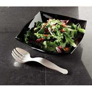 Yoshi Ware Emi Party Tray Black Plastic Serving Fork -- 144 per case.
