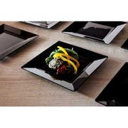 Yoshi Ware Emi Squares Black Salad Plate, 8 inch - 10 per pack -- 12 packs per case.