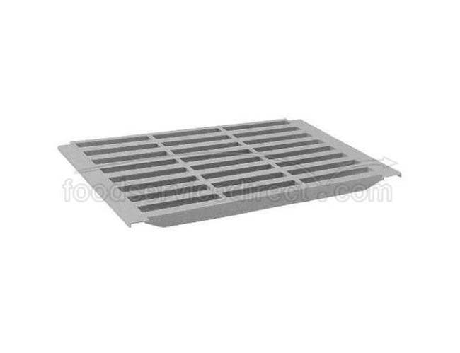 Cambro Camshelving Speckled Gray Vented Shelf Plate, 24 x 12 inch -- 1 each.