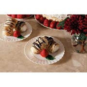 Resposables Black Dessert Plate, 6 inch -- 180 per case.