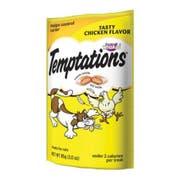 Whiskas Temptations Tasty Chicken Flavor Treat for Cat, 3 Ounce Peg -- 12 per case.