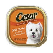 Cesar Canine Cuisine Chicken and Liver in Meaty Juice, 3.5 Ounce Tray -- 24 per case.