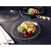 Party Tray Round Black Tray, 10 inch -- 25 per case.