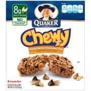 Quaker Chewy Peanut Butter Chocolate Chunk Granola Bar, 6.7 Ounce - 8 per pack -- 12 packs per case.