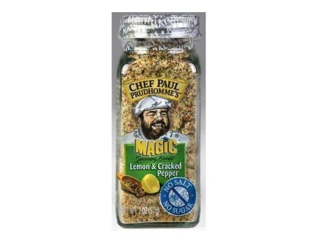 Magic No Salt and No Sugar Lemon and Cracked Pepper Seasoning Blend, 2 Ounce -- 12 per case.