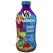 V8 Fusion Acai Mixed Berry Beverage, 46 Fluid Ounce -- 6 per case.