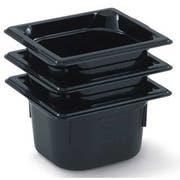 Vollrath Super Pan Black High Temperature Sixth Size Plastic Pan -- 6 per case.