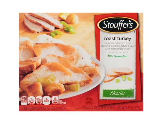 Nestle Stouffers Dinner Size Homestyle Selects Roast Turkey Breast, 9.62 Ounce -- 12 per case.