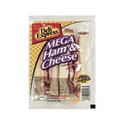 Deli Express Mega Deli Ham and Cheese Sandwich, 6 Ounce -- 8 per case.