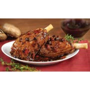 Cuisine Solutions Lamb Shanks Seared with Red Wine Portobello Mushrooms, 16.5 Ounce -- 22 per case.