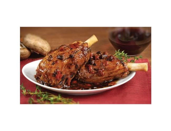 Cuisine Solutions Lamb Shanks Seared with Red Wine Portobello Mushrooms, 16.5 Ounce -- 22 per case.