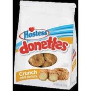 Hostess Donettes Crunch Mini Donut, 9.5 Ounce -- 6 per case.