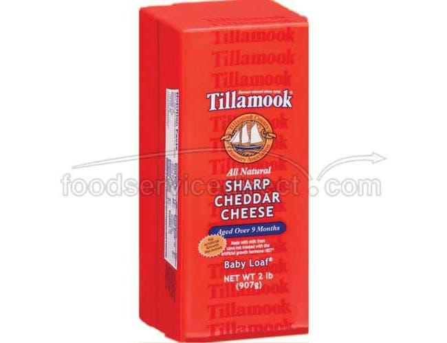 Tillamook Sharp Cheddar Cheese, 2 Pound -- 6 per case.