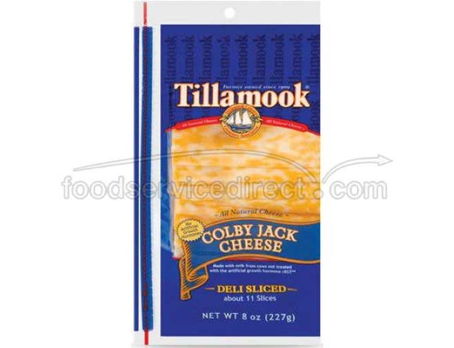 Tillamook Set Weigh Colby Jack Cheese, 8 Ounce -- 12 per case.