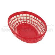 Update International Oval Red Fast Food Basket, 9 1/4 x 5 3/4 inch -- 12 per case.