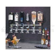 Precision Pours Wall Mount Complete Rack and Pour Units with Non Metered Head, 6 Bottles -- 1 each.