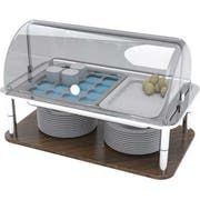 Smart Domino Cold Display Chiller Set with ice Packs and NSF Coated Aluminum Trays, 26 x 16 x 14 inch -- 1 each.