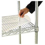 Alera Shelf Liners For Wire Shelving, Clear Plastic, 36w x 24d, 4/Pack