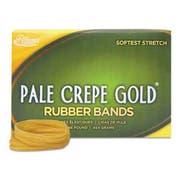 Alliance Pale Crepe Gold Rubber Bands, Sz. 117B, 7 x 1/8, 1lb Box