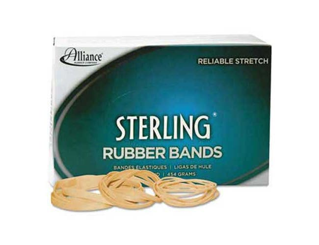 Alliance Sterling Rubber Bands Rubber Bands, 64, 3 1/2 x 1/4, 425 Bands/1lb Box