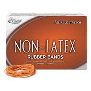 Alliance Non-Latex Rubber Bands, Sz. 19, Orange, 3-1/2 x 1/16, 1750 Bands/1lb Box