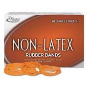 Alliance Non-Latex Rubber Bands, Sz. 117B, Orange, 7 x 1/8, 250 Bands/1lb Box